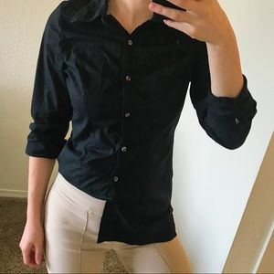 Collared Black button down shirt